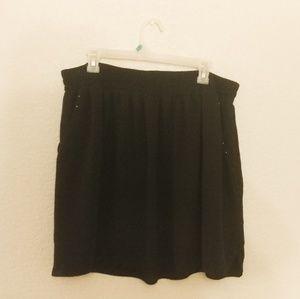 Black skater skirt with pockets